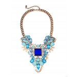 Lost Treasure Icy Blue Geo Statement Necklace