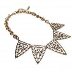 Crystal Stone Galaxy Triangle Statement Necklace