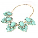 Letunia Mint Bauble Petal Burst Necklace
