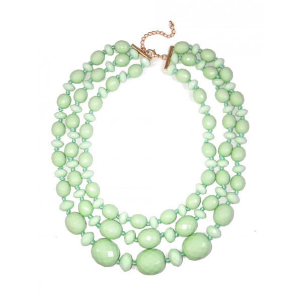 Give It A Swirl Mint Layered Necklace