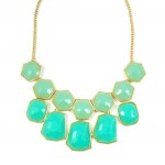 Ombre Mint HoneyComb Faceted Geo Stone Necklace