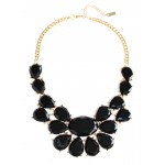Noir Plaza Athenee Floral Necklace