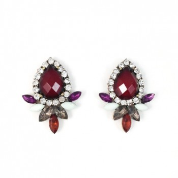 Sultry Couture Crystal Wings Earrings