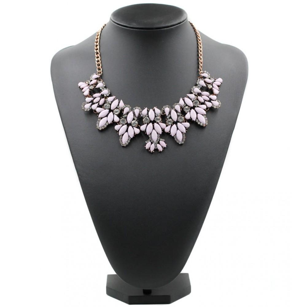 Rosie Blush Crystal Cascade Encrusted Rose Gold Chain