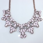 Anastasia Pink Peony RoseGold Chain Necklace