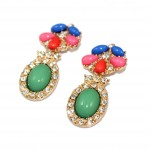 Les Filles Candy Color Crystal Statement Earrings