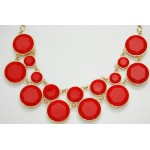 Loras Yellow Bubble Dots Necklace
