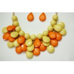 Citrine Ombre Faceted Teardrop Bib Necklace