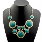 Nera Faceted Circle Cascade Necklace