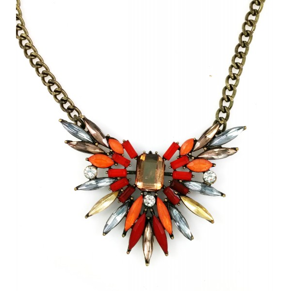 Firecracker Spike Stone Burst Necklace