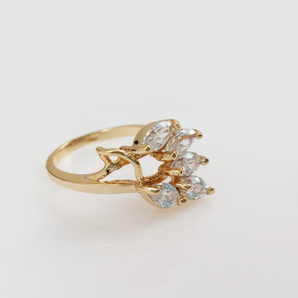 flora cubic zirconia 18k gold ring