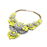 Apolonia Neon Yellow Statement Necklace