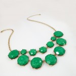 Surina Green Marbled Bauble Box Necklace