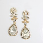 Flora Crystal Teardrdop Statement Dangle Earrings
