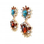 'Avia' Turquoise and Tortoise Statement Earrings