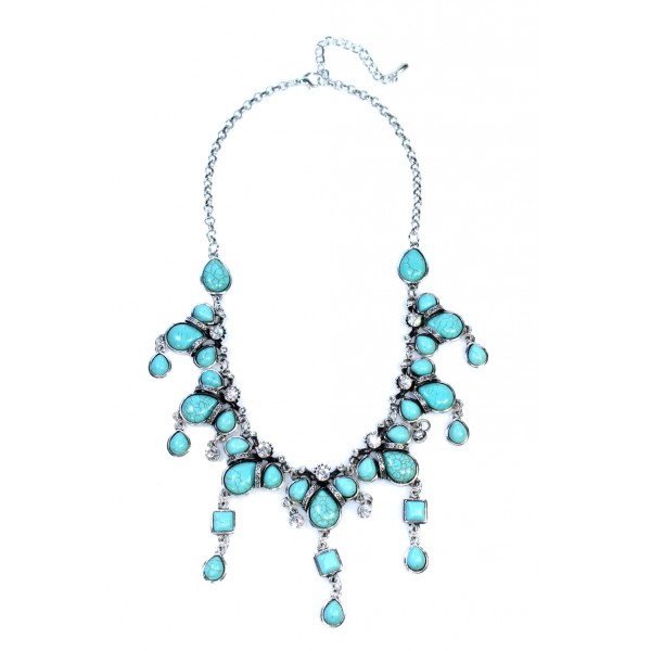 Tibetan Boho Turquoise Statement Necklace