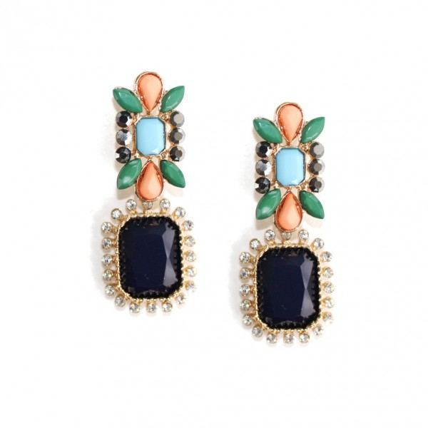 Vanessa Color block Statement Earrings