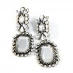 Let It Snow Antique Crystal GemStone Statement Stud Earrings