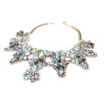 Gurnani Holographic Faceted Marquise Statement Necklace