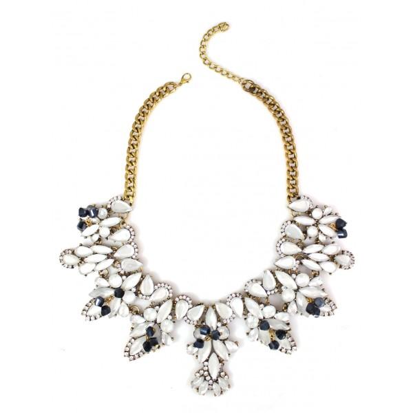 Gurnani Ivory Opalline Crystal Necklace