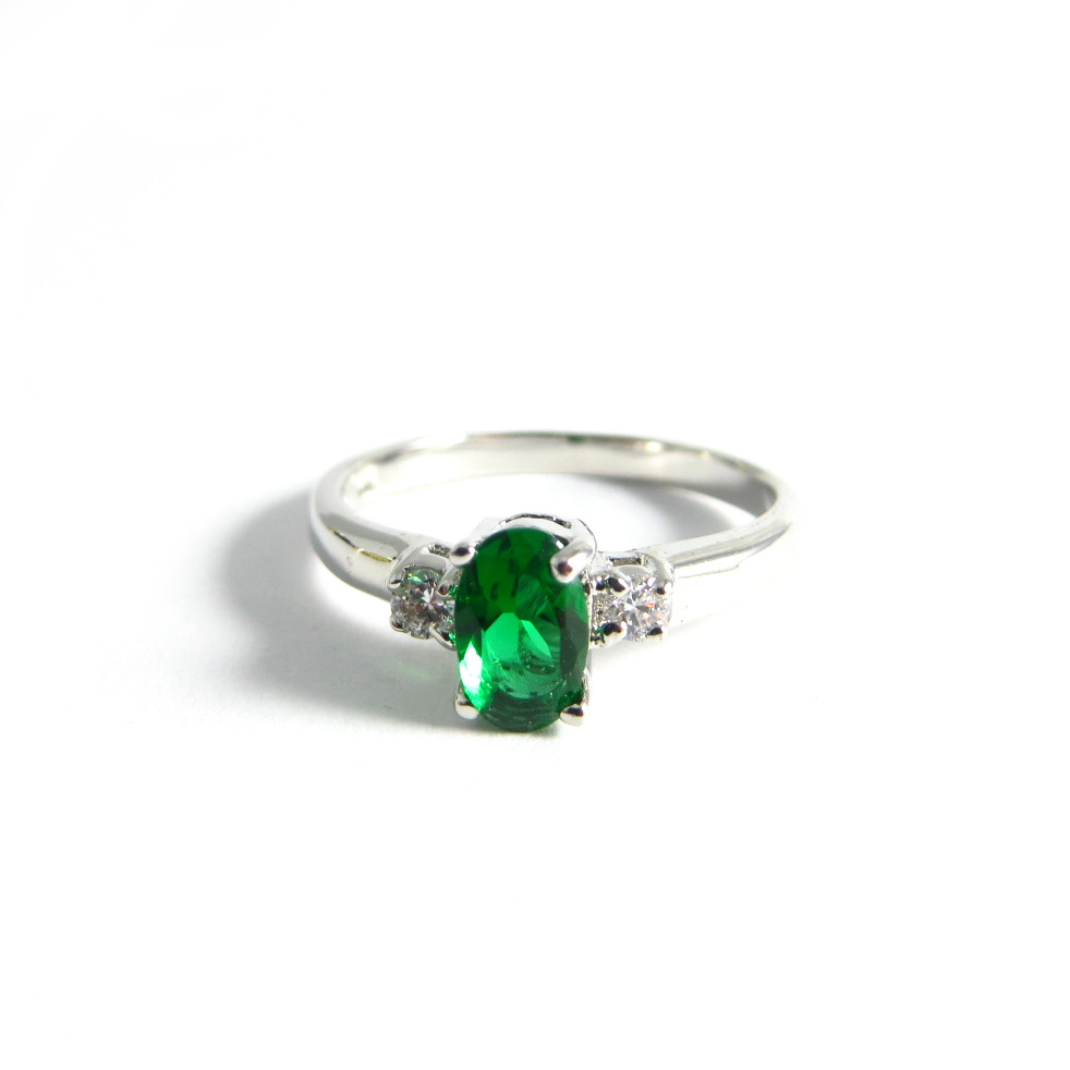 emerald center cubic zirconia ring jpg