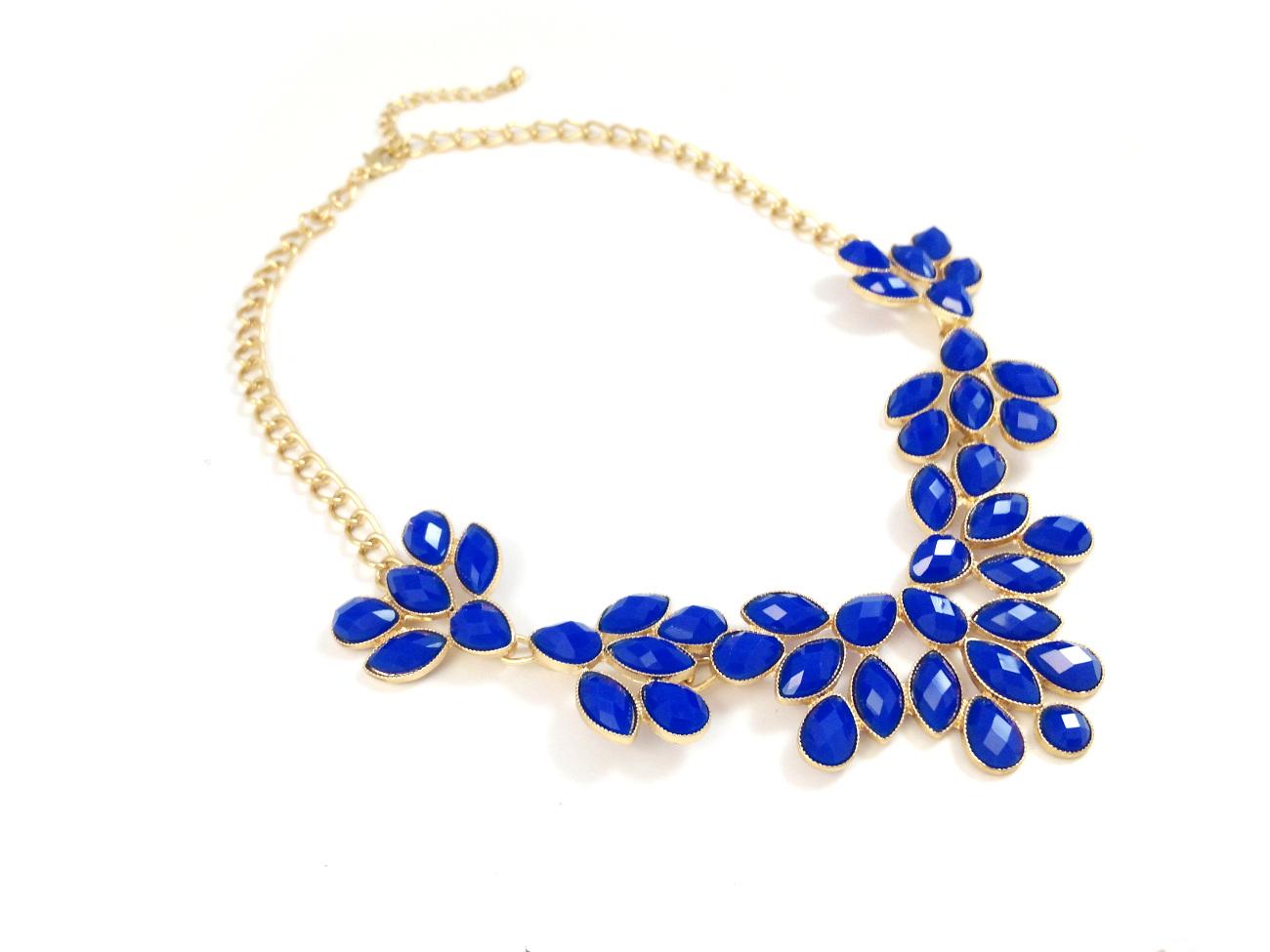 cobalt blue statement necklace quotes