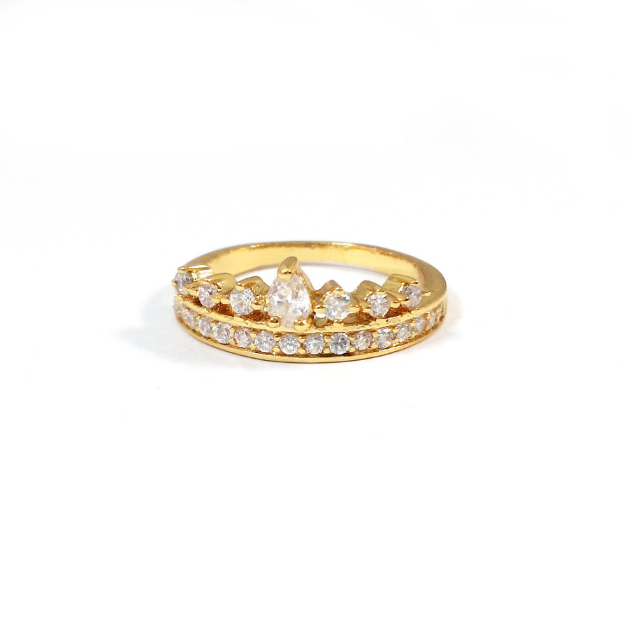 heiress engagement cubic zirconia 18k gold ring