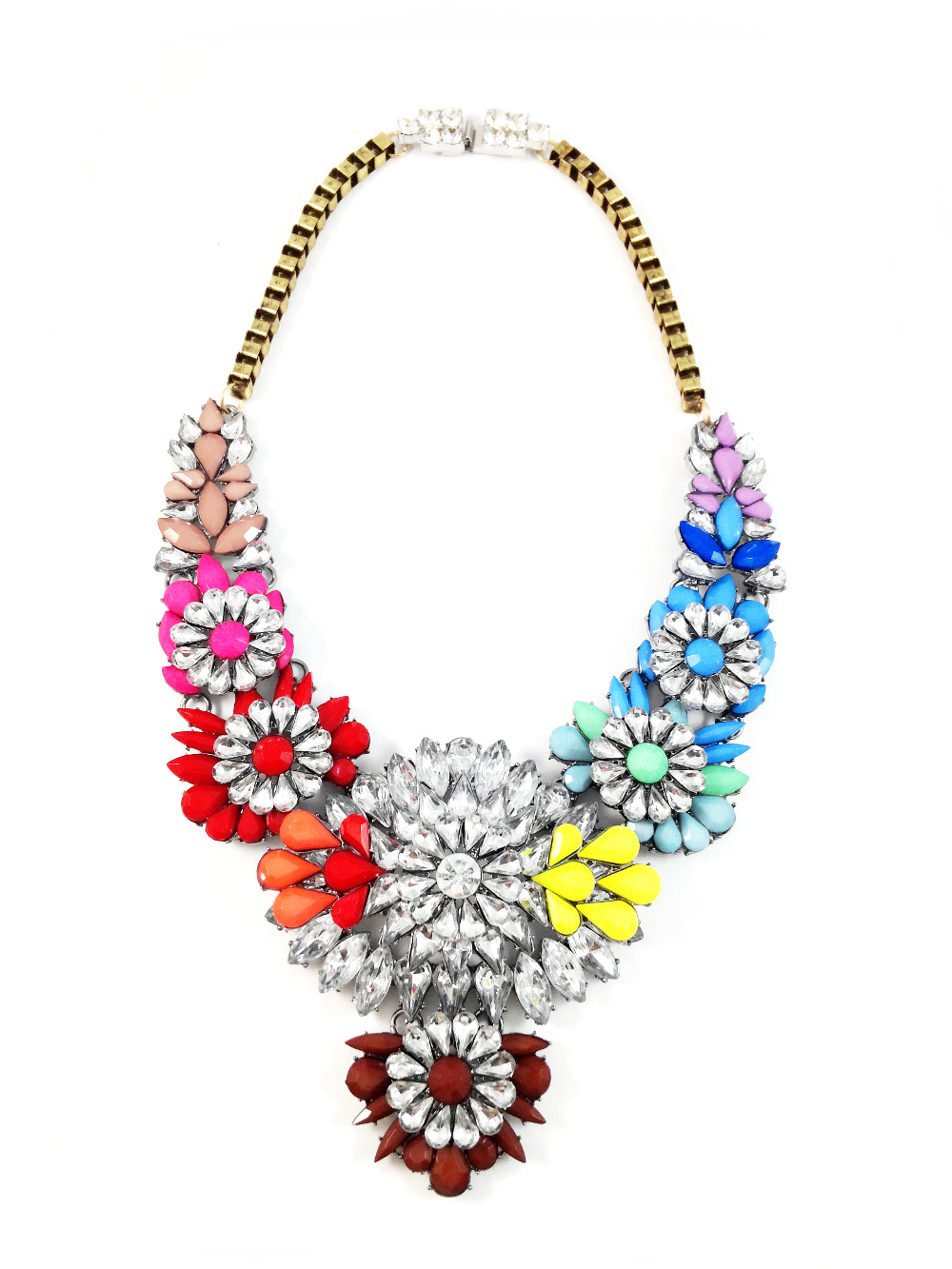 buy en hand with jewellery shourouk necklace gemstones second