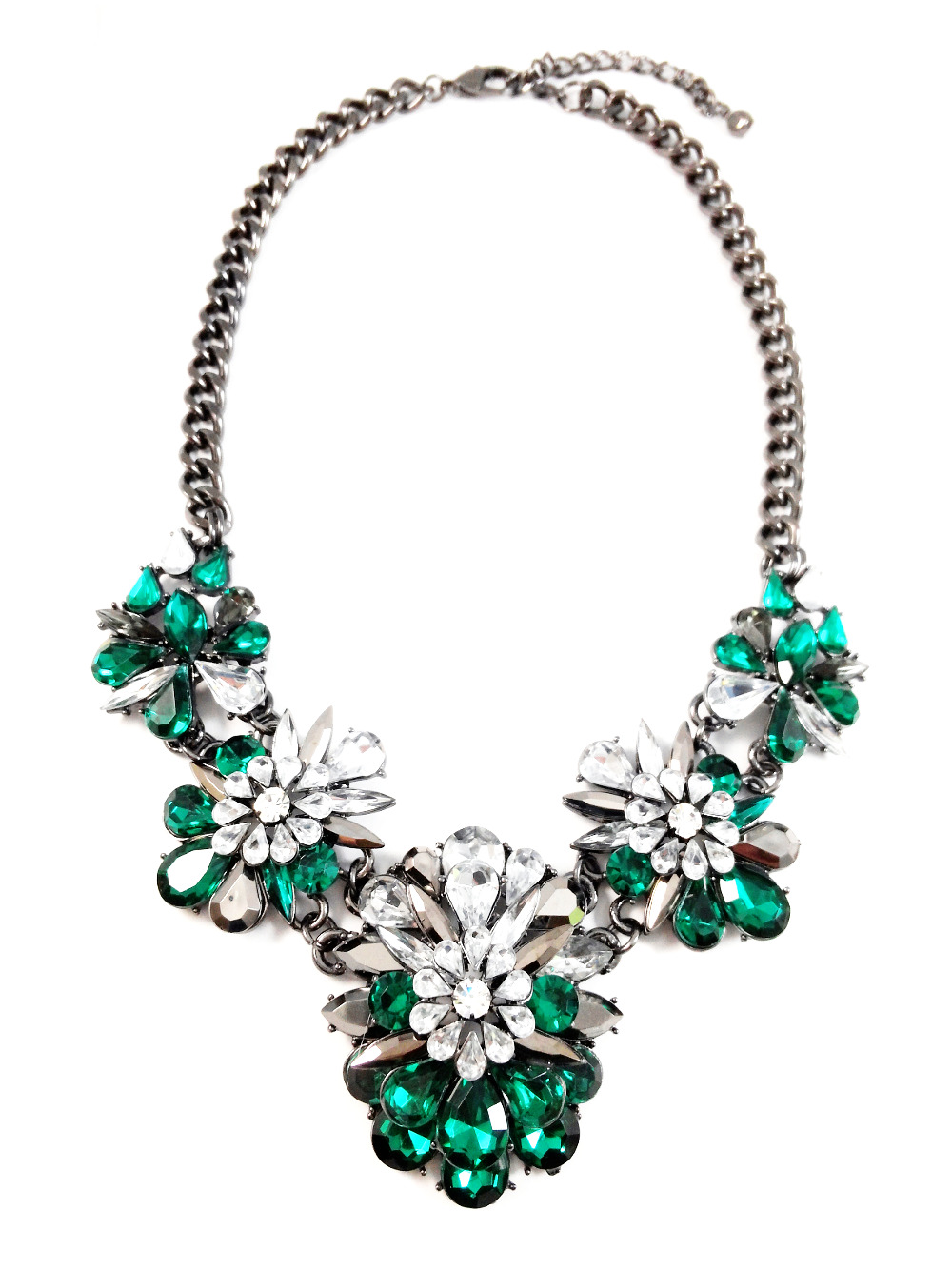 Marquise Jewel Crystal Cluster Statement Necklace Shourouk Inspired tOnIS0Q9